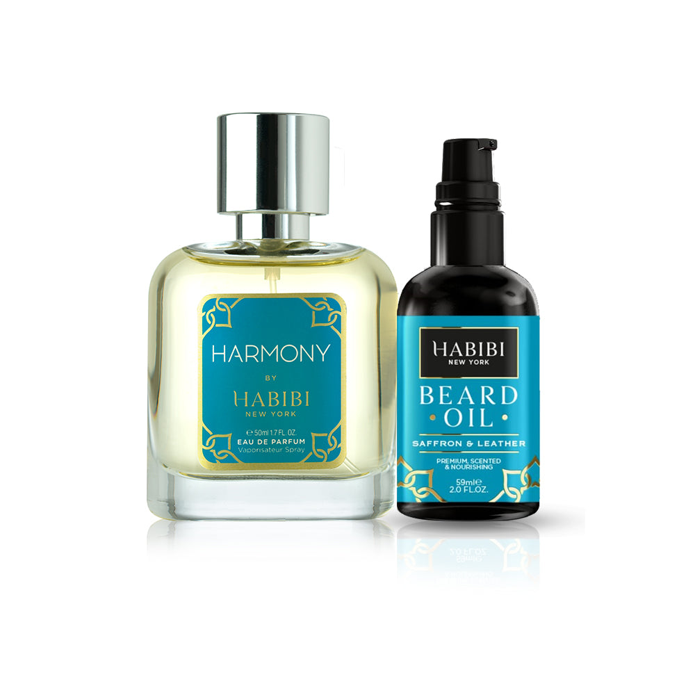 HABIBI® Harmony Unisex Parfum & Saffron & Leather Beard Oil