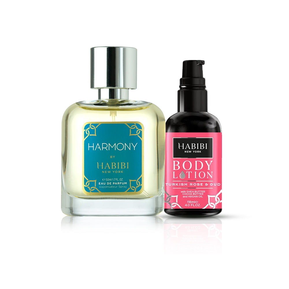 HABIBI® Harmony Unisex Parfum & Turkish Rose & Oud Body Lotion
