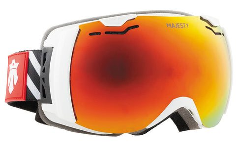 Majesty SPECTRUM goggle white / red-ruby (13% VLT) - Majesty Skis | USA