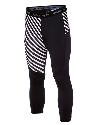 Surface Thunder - mens 3/4 length warm bottoms (black/white) - Majesty Skis | USA