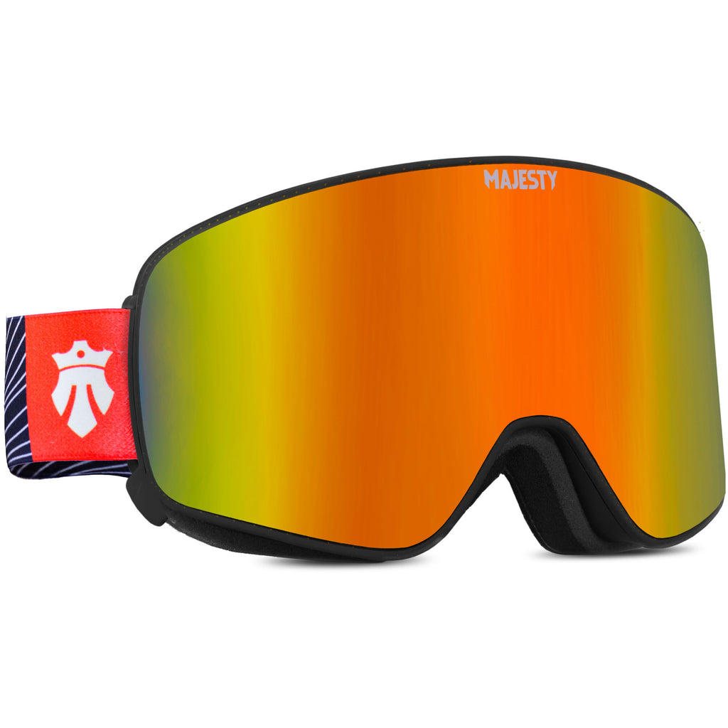 The Force C Fire Opal Mirror - Cylindrical Magnetic Goggles - Majesty Skis | USA