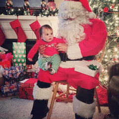 Toddler with Santa