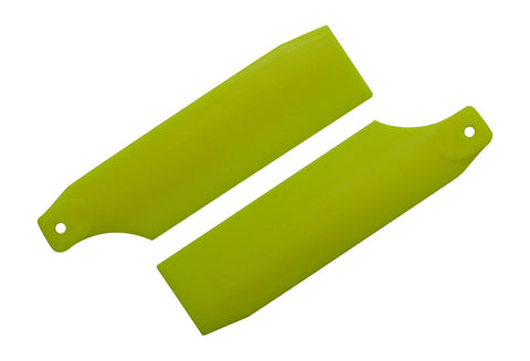 61mm Neon Yellow Tail Rotor Blades - 450 Size #4017