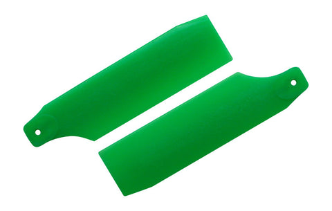 61mm Neon Green Tail Rotor Blades - 450 Size #4018