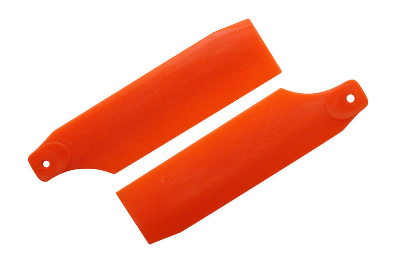 61mm Neon Orange Tail Rotor Blades - 450 Size #4019