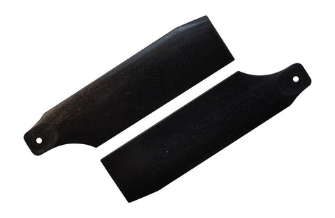 61mm Midnight Black Tail Rotor Blades - 450 Size #4020