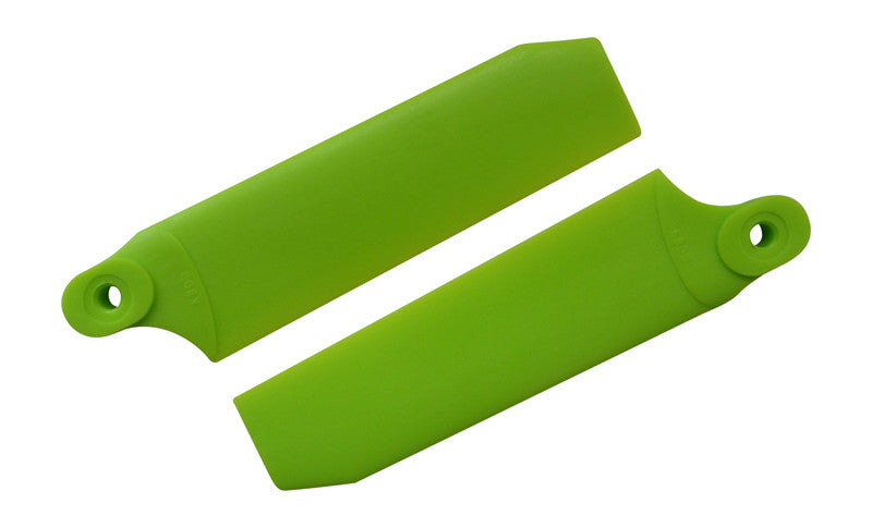 72.5mm W/ 5mm Root Neon Lime Extreme Edition Tail Rotor Blades - 500 Size #4031