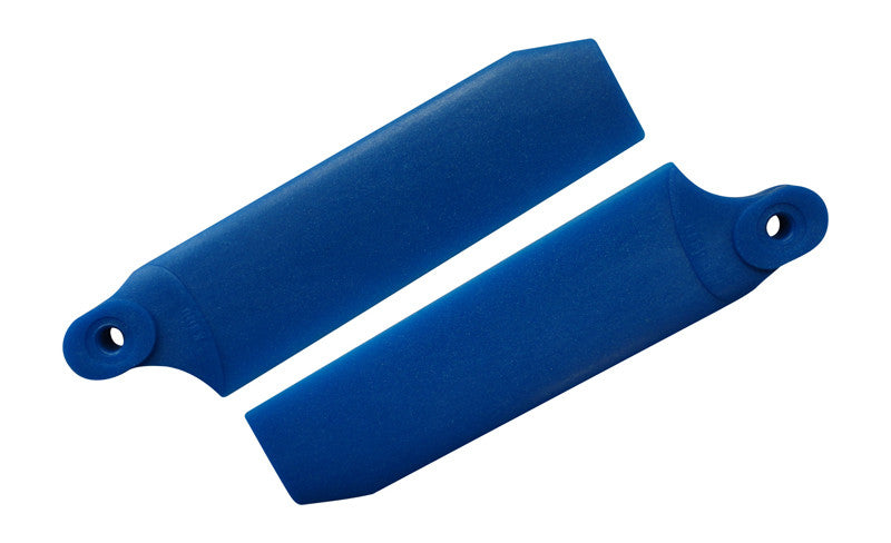 72.5mm W/ 5mm Root Pearl Blue Extreme Edition Tail Rotor Blades - 500 Size #4032