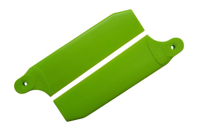 96mm Neon Lime Extreme Edition Tail Rotor Blades - 600 Size #4070
