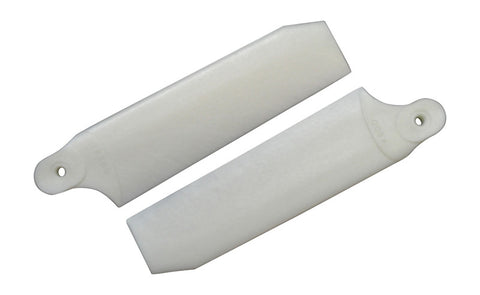 96mm Pearl White Extreme Edition Tail Rotor Blades - 600 Size #4072