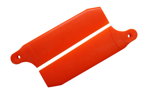 96mm Neon Orange Extreme Edition Tail Rotor Blades - 600 Size #4073