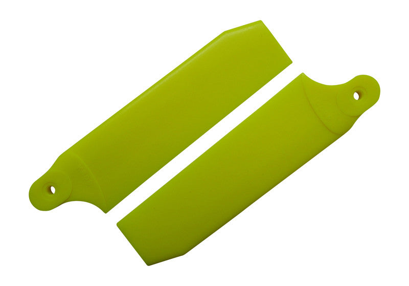 96mm Neon Yellow Extreme Edition Tail Rotor Blades - 600 Size #4074