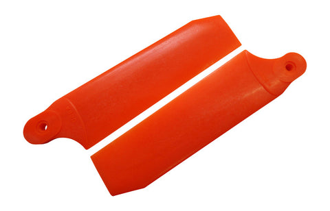 104mm Neon Orange Extreme Edition Tail Rotor Blades - 700 Size #4079