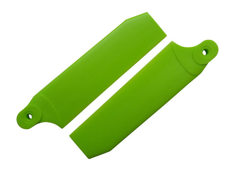 84.5mm Neon Lime Extreme Edition Tail Rotor Blades - 550 Size #4090