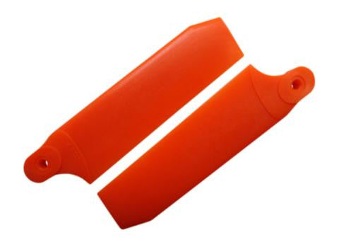 84.5mm Neon Orange Extreme Edition Tail Rotor Blades - 550 Size #4093