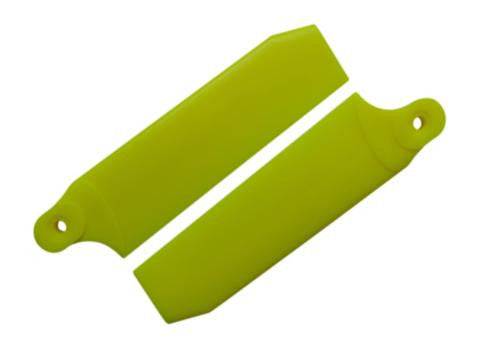 84.5mm Neon Yellow Extreme Edition Tail Rotor Blades - 550 Size #4094