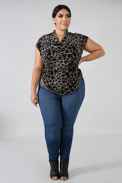 McKay Cheetah Print Top