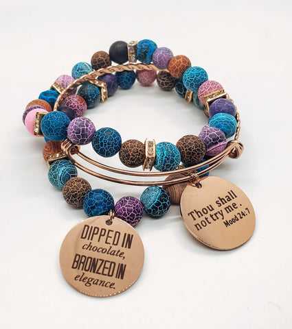 Pop of Color Stacked Bracelets