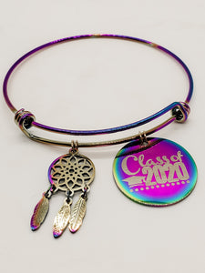 Class of 2020 Rainbow Charm Bangle