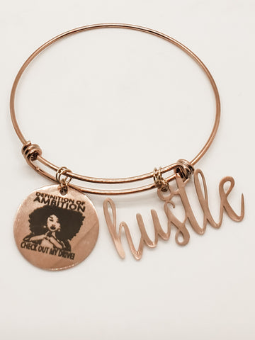 Ambition & Hustle Charm Bangle