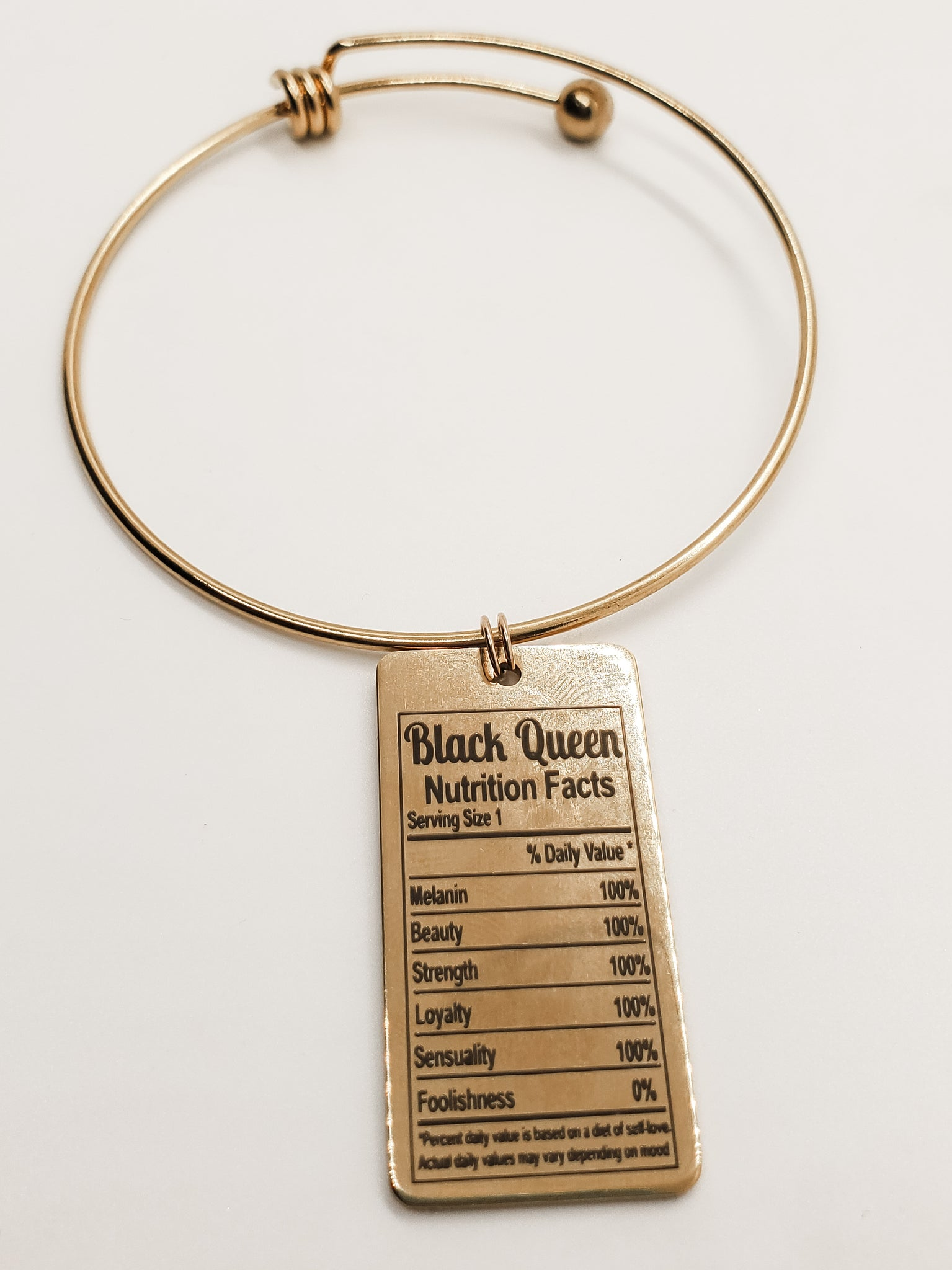Black Queen Charm Bangle