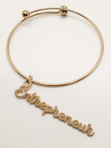 Entrepreneur Charm Bangle