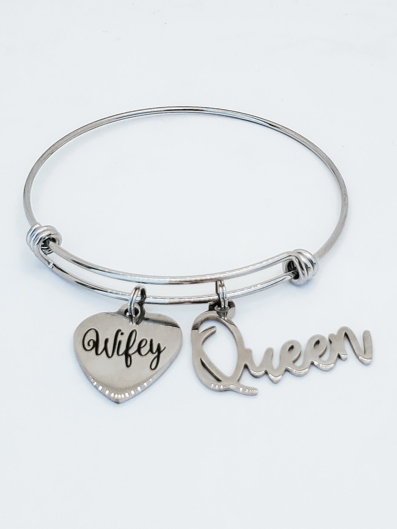 Wifey & Queen Charm Bangle
