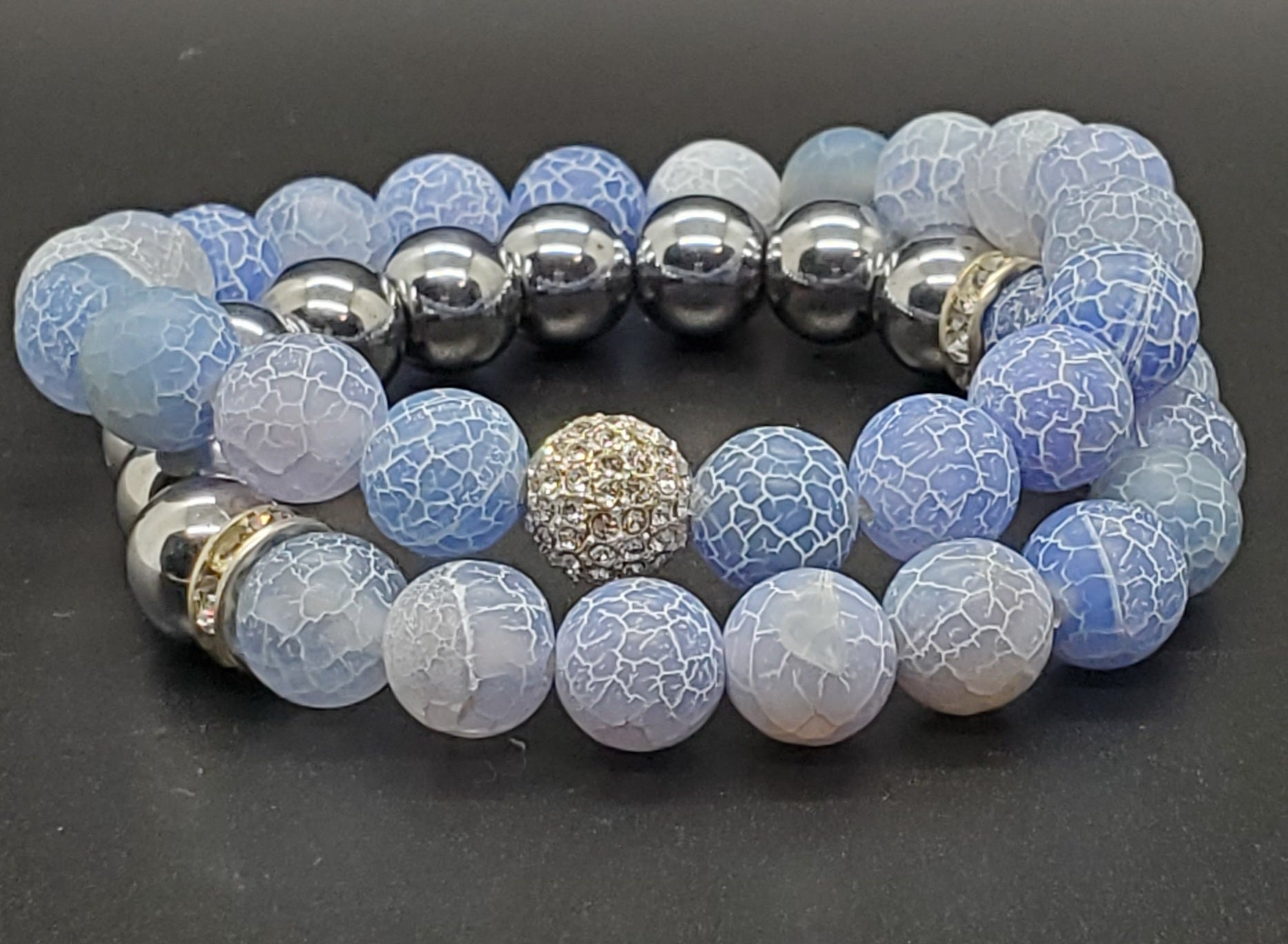 Shades of Blue Bracelet (Set of 2)