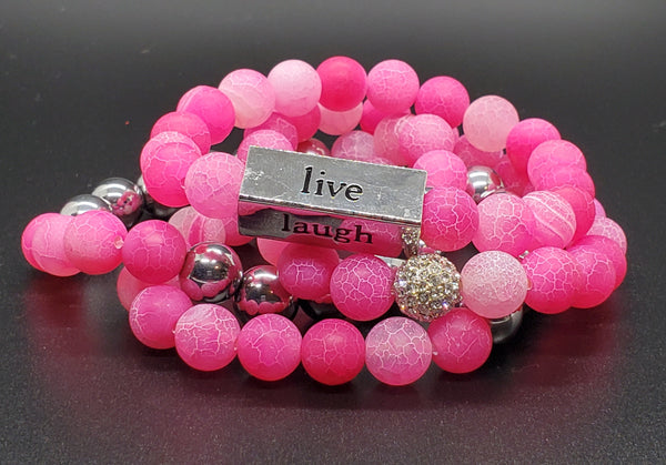 Live, Laugh, Love, Dream Bracelet (Set of 4)