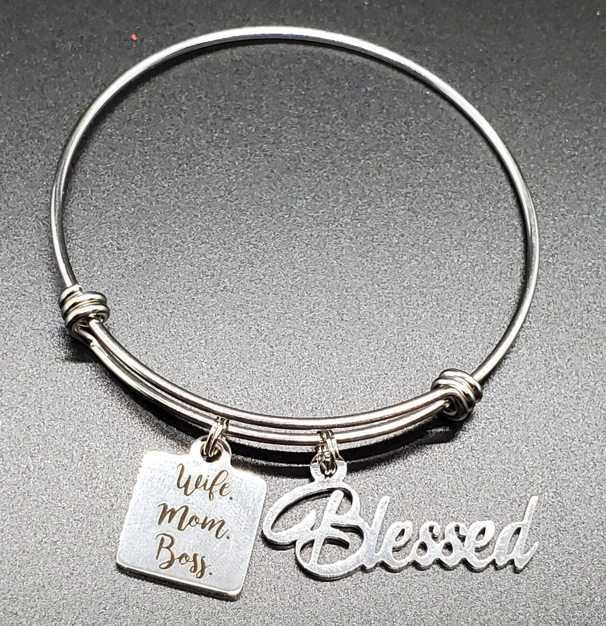 Blessed Wife Charm Bangle