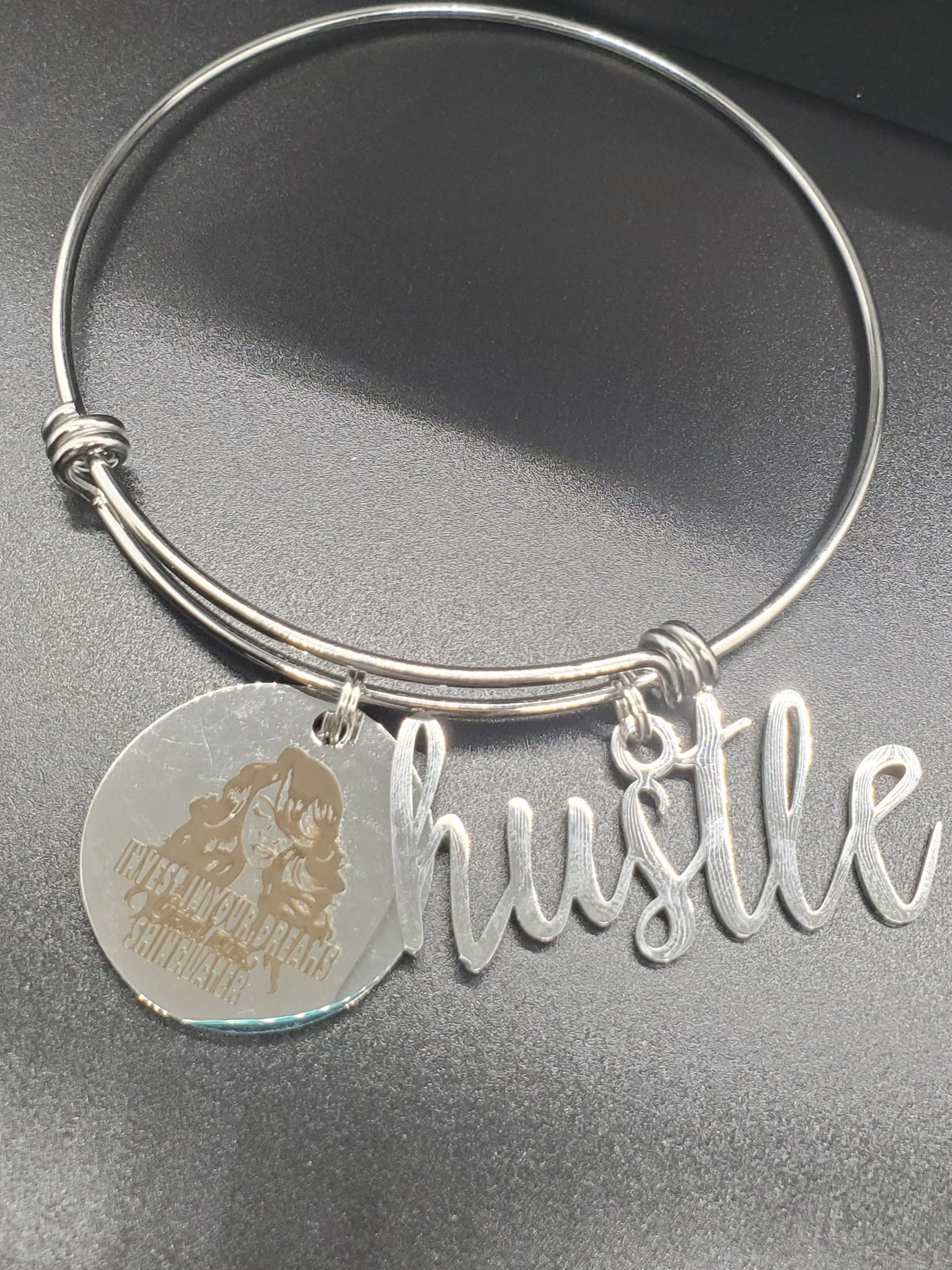 Hustle Shine Later Charm Bangle