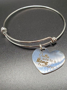 King & Queen Charm Bangle