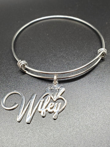 Wifey Charm Bangle