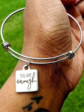 You Are Enough Charm Bangle