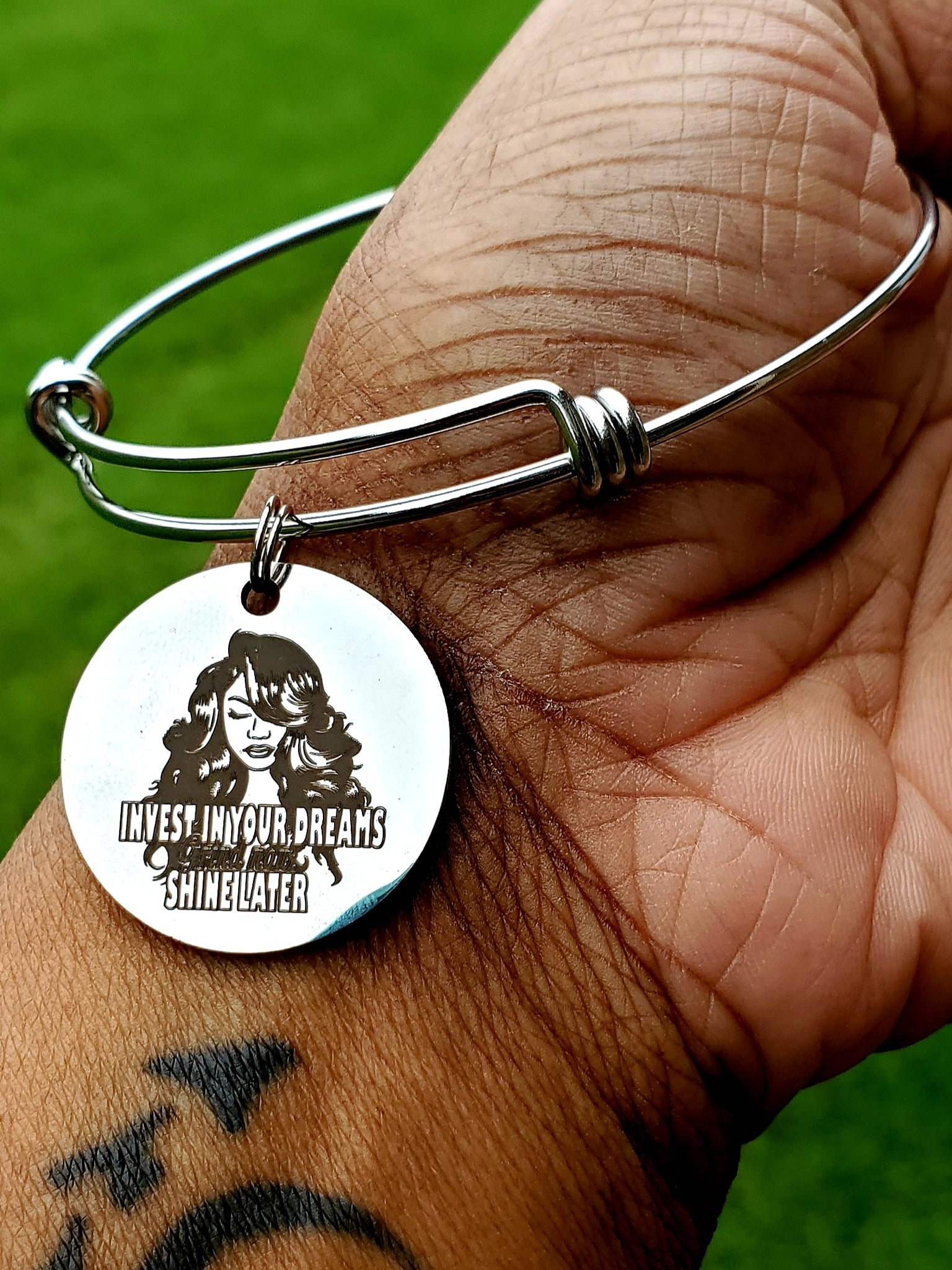 Invest In Yourself Charm Bangle