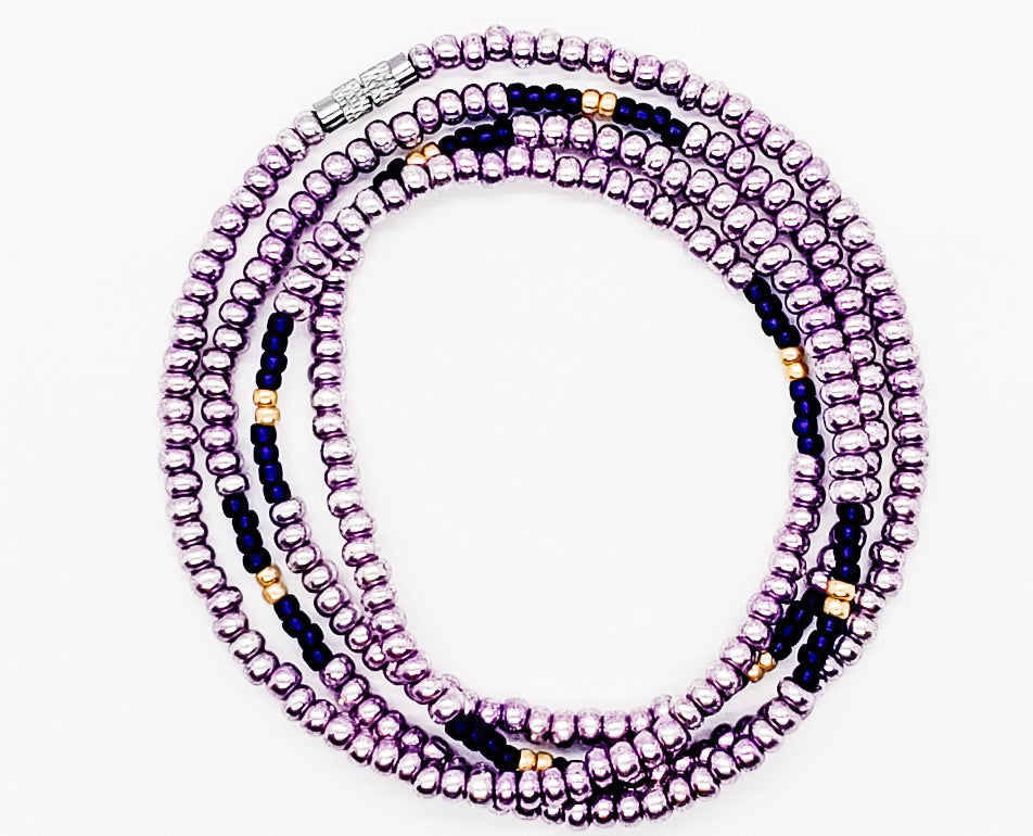 Removable Purple Sherbert Waistbead 34 inches