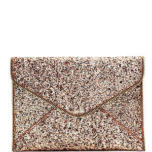 Flawlessly Flawless All Over Glitter Clutch - Styles of a DIVA