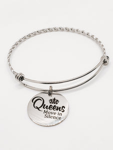 Queens Move In Silence Charm Bangle