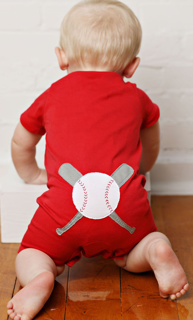Boys Baseball Romper