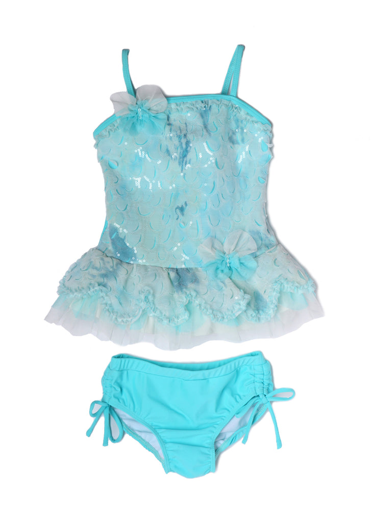 Mermaid Dance Ruffle Two piece Swimsuit