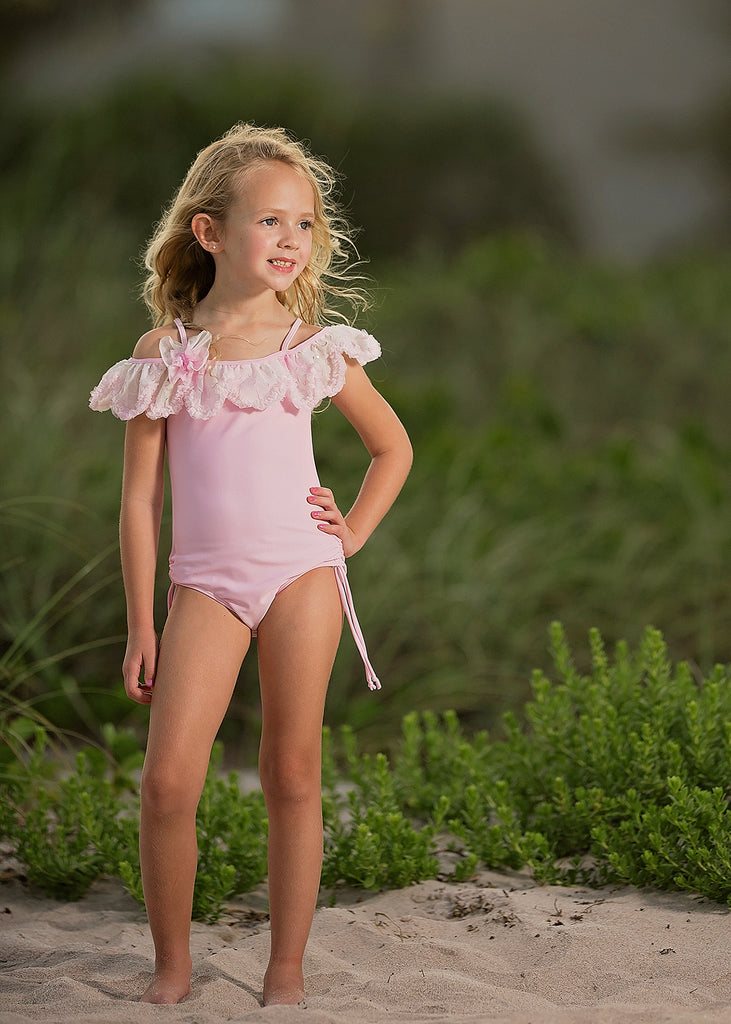 Mermaid Dance Pink One Piece