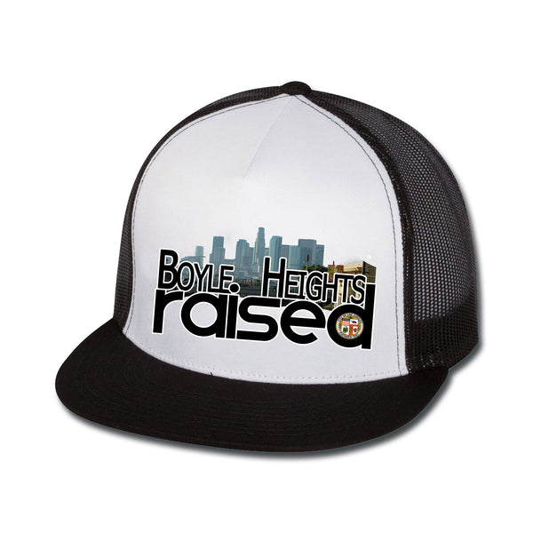 Boyle Heights Raised Flat Bill Trucker Hat