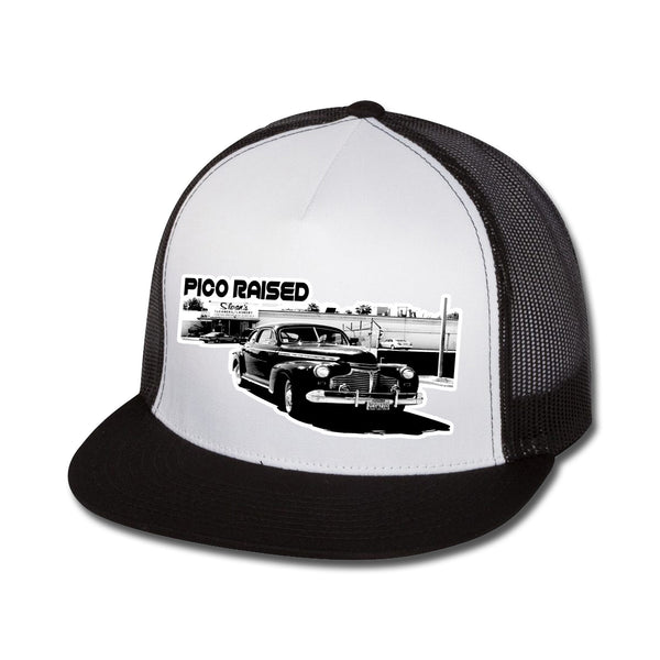 Pico Raised Flat Bill Trucker Hat