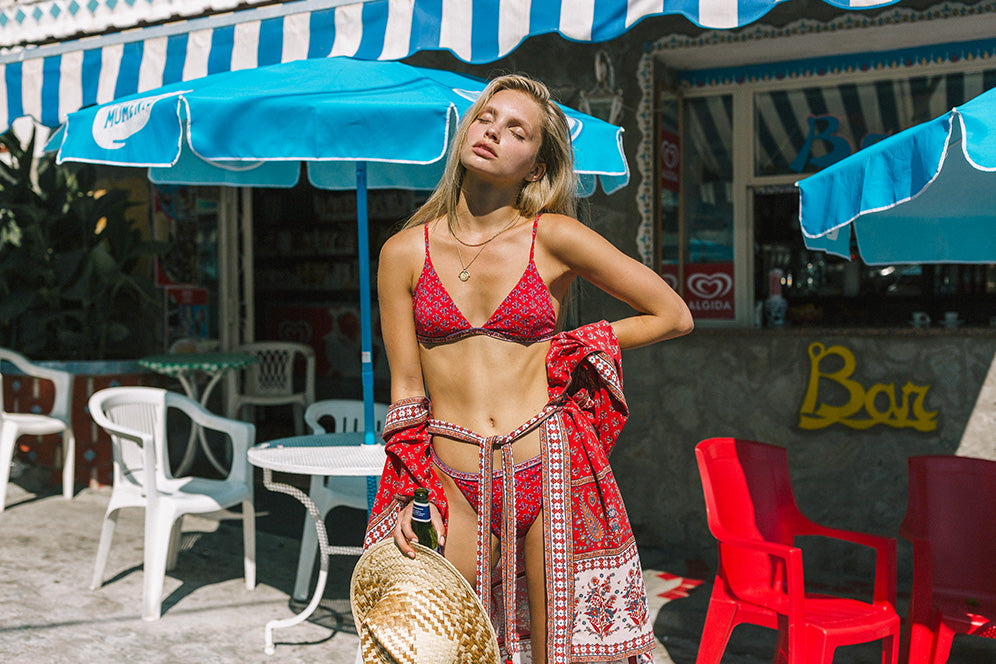 Bikini and matching kimono from sustainable Australian fashion brand Arnhem