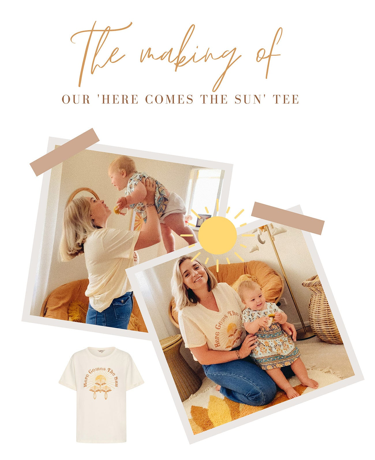 Meet Jaz of Harley and J the illustrator behind our Here Comes The Sun Tee