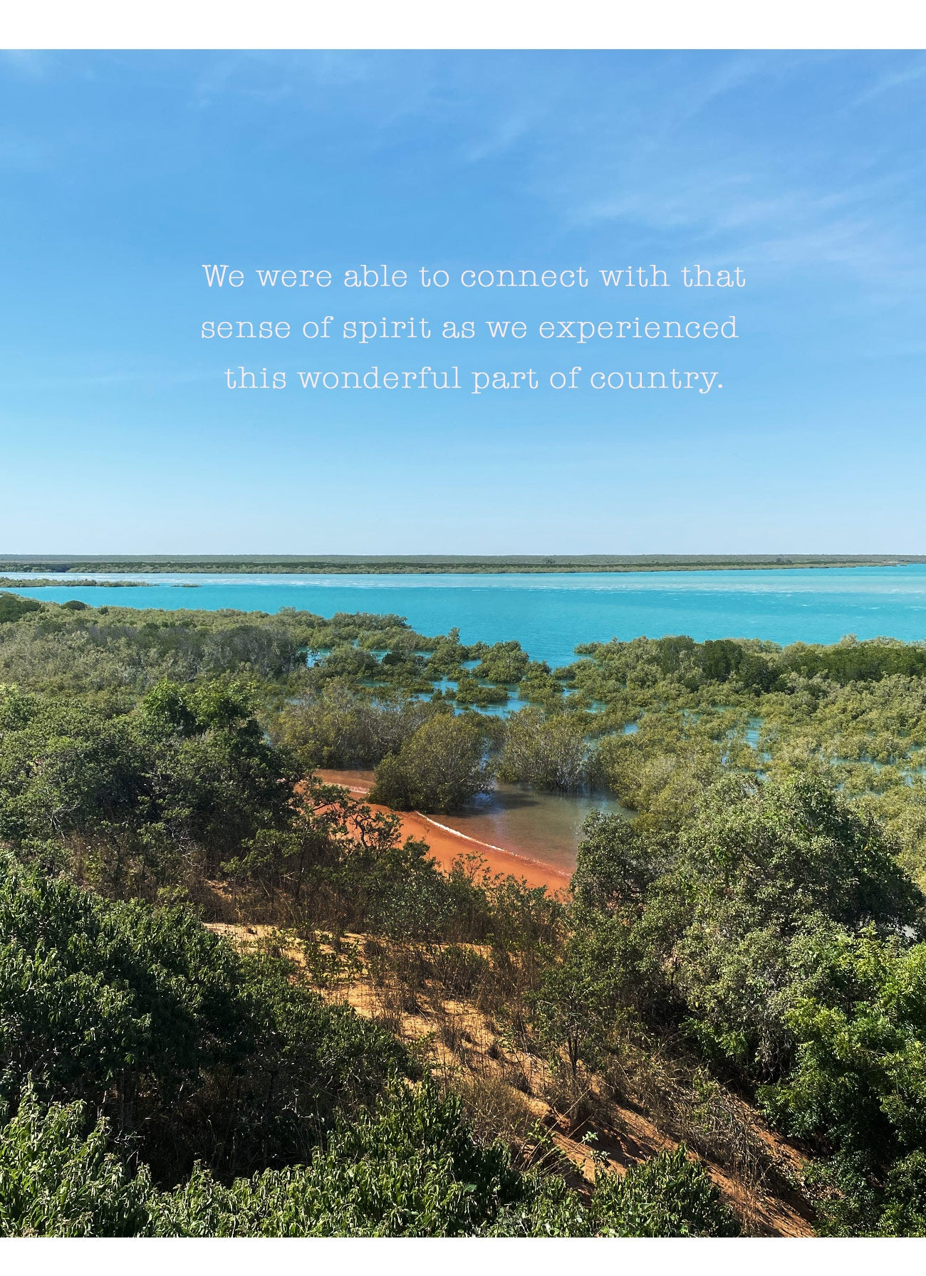 Connecting spiritually with country at Cape Leveque in Western Australia