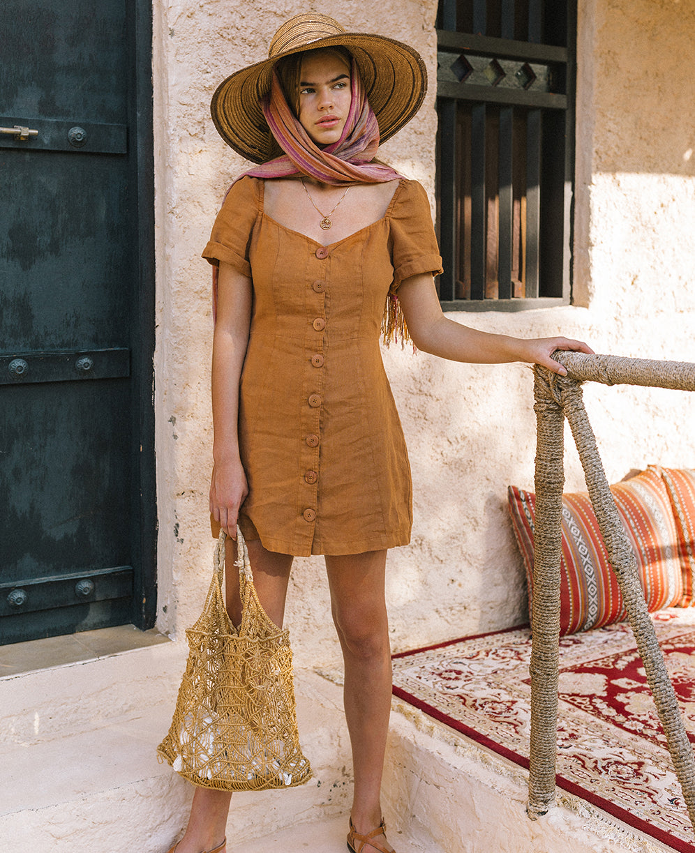 Drop two of Mirage sustainable linen dresses Arnhem clothing