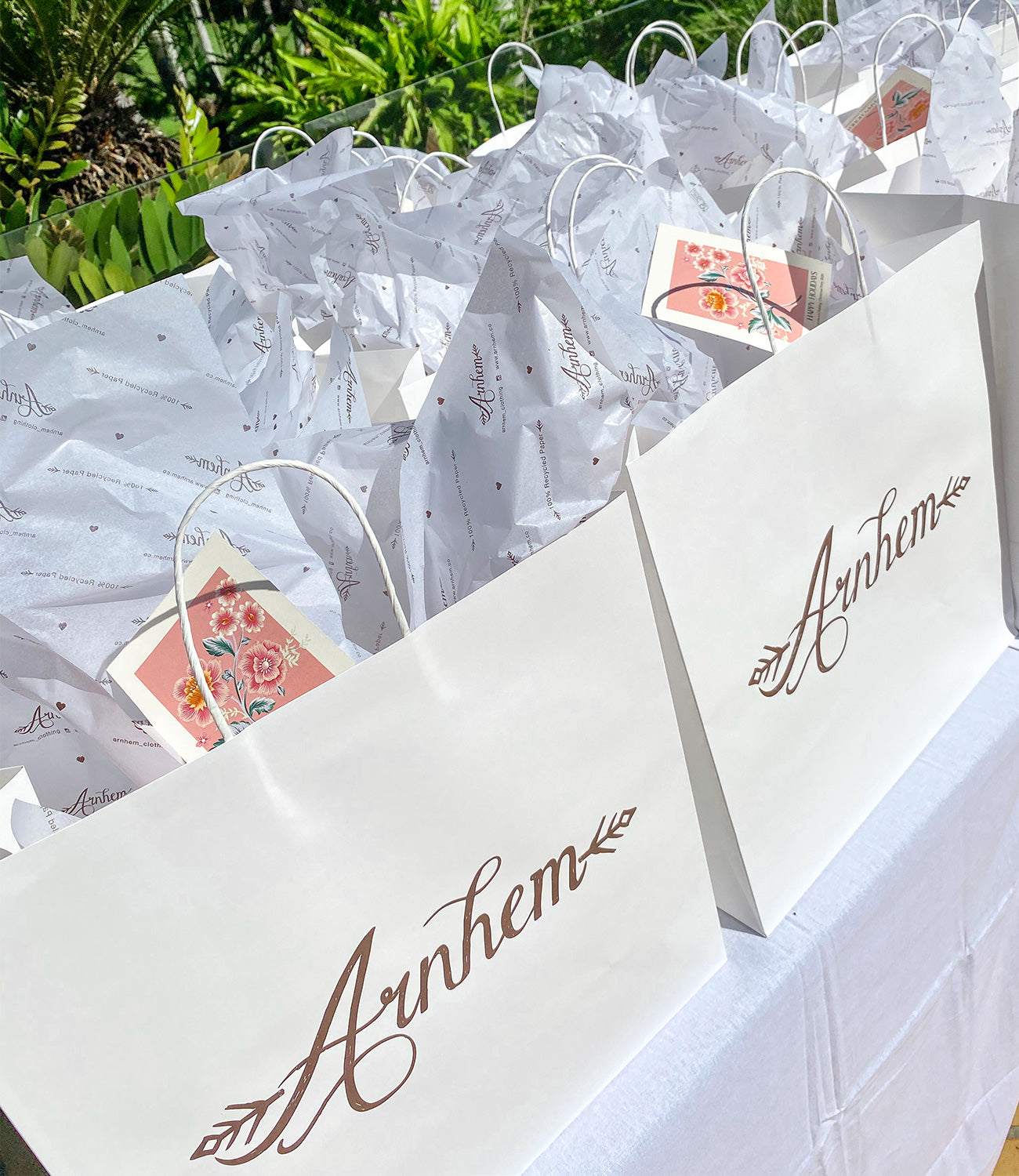 Arnhem goody bags with gifts from sustainable Byron Bay brands