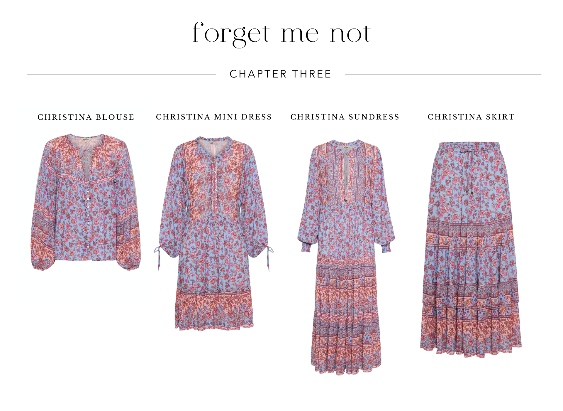 Shop Forget Me Not Chapter Three from Arnhem sustainable clothing