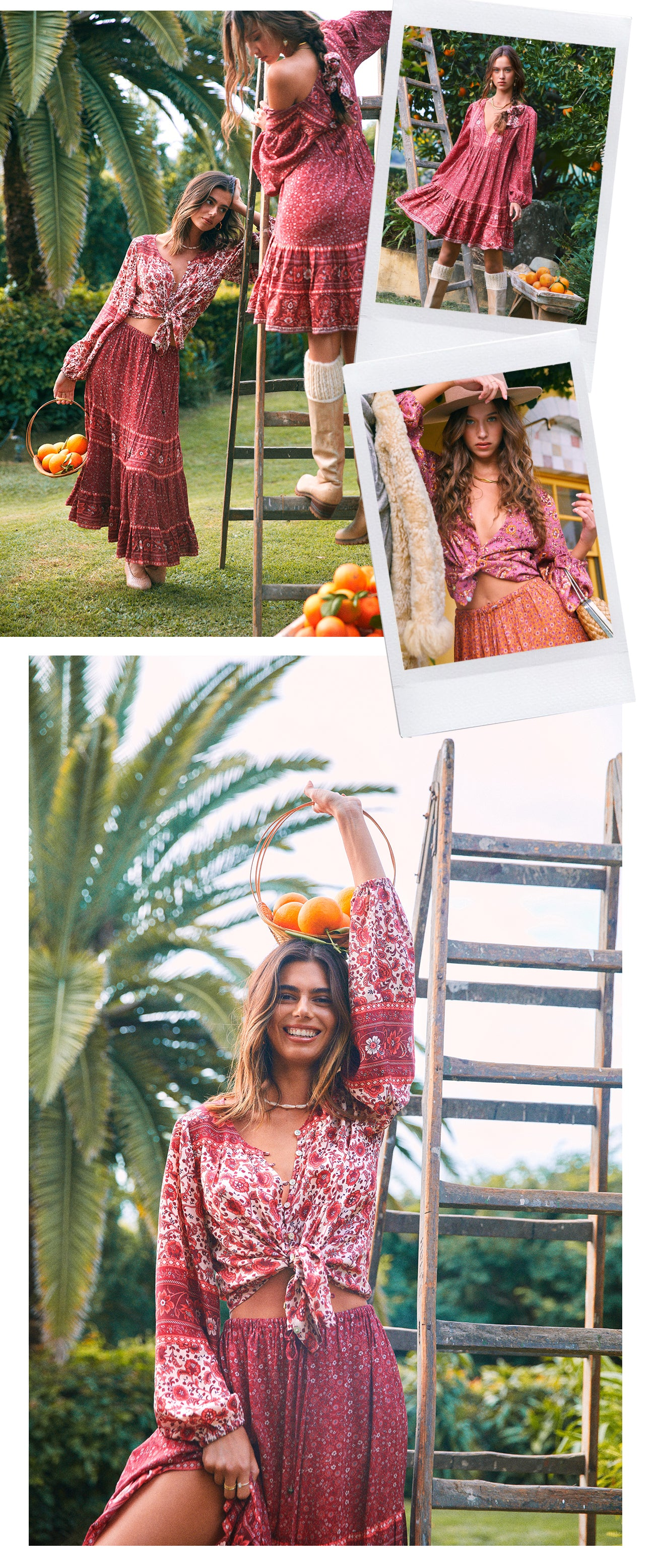 Esmee in Ruby the new sustainable print collection from Arnhem Byron Bay